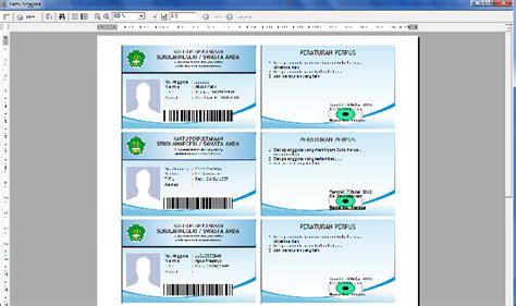 cara membuat barcode kartu anggota cara membuat kartu anggota perpustakaan aplikasi