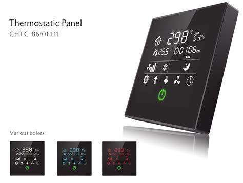 knx eib intelligent touch screen smart home automation