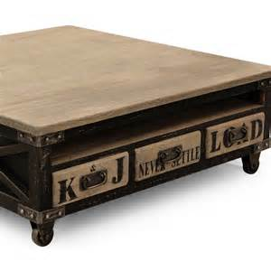 table basse carr 233 e industriel new york