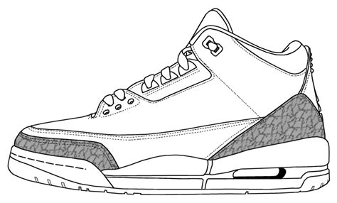 printable coloring pages jordans jordan shoe coloring pages az coloring pages
