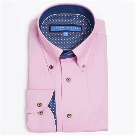 Button Collar Shirt button collar pink shirt mens designer shirts jackett