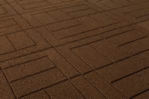 Interlocking Patio Pavers Brava Outdoor Interlocking Rubber Pavers Teak Brown Pigment Brick 24 Quot X24 Quot X3 4 Quot