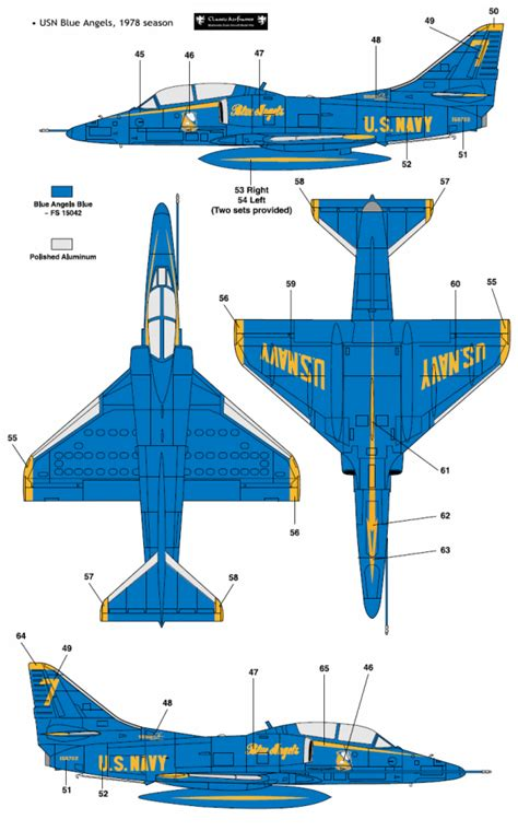 Blauer Engel Farbe by Douglas Ta 4j Skyhawk Blue Color Profile And Paint Guide