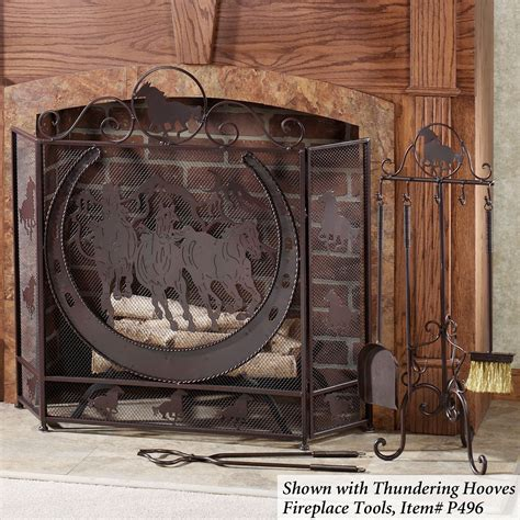horse fireplace screen images