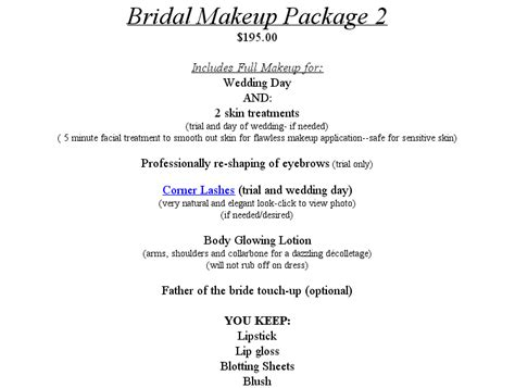 brautfrisur preise bridal makeup packages