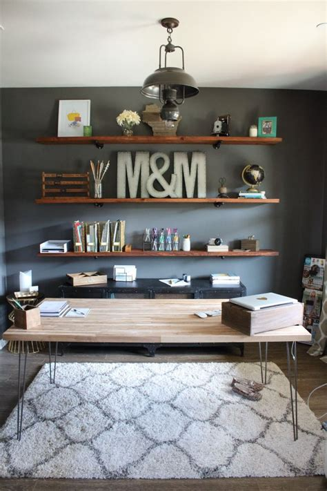 Office Shelf Decorating Ideas Best 25 Home Office Shelves Ideas On Pinterest Home Office Home Office Decor And Office Shelving