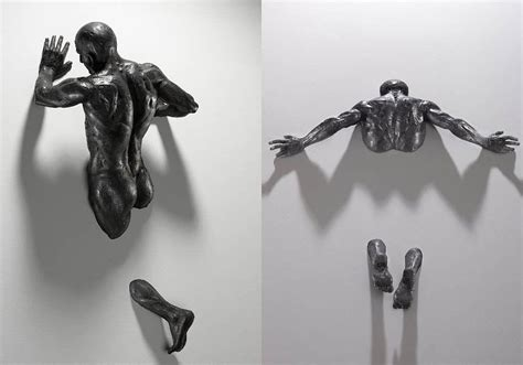 Unique Kitchen Accessories Figurative Sculptures Embedded In Gallery Walls By Matteo