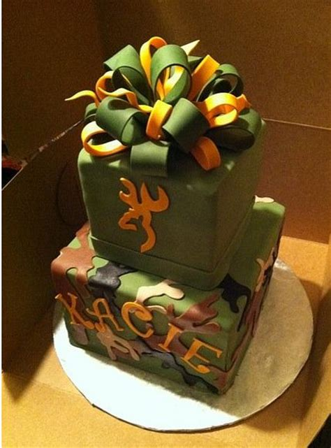 tier cubic green cake  orange  green bow  topjpg  comment