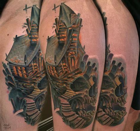 tommy helm tattoo shop custom collaboration skull by marvin silva tattoos