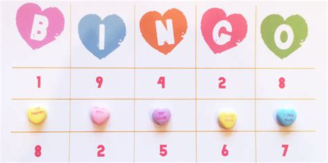 Conversation Hearts Bingo Cards Template by Remodelaholic Easy Printable Bingo Cards Tags