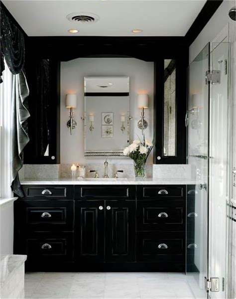 Black Bathroom Cabinet Decorating With Black Centsational