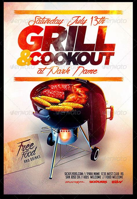 8 cookout flyers printable psd ai vector eps format