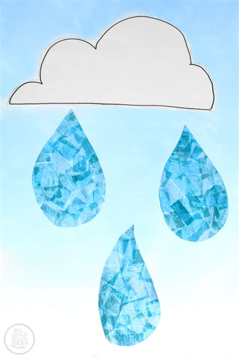 blue craft paper crafts for raindrop suncatchers the gold jellybean