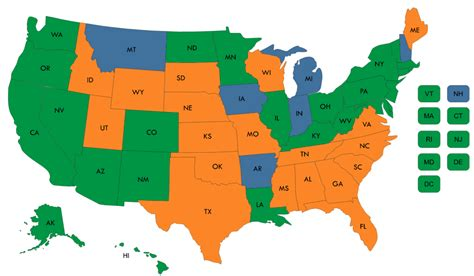 states with where states stand on medicaid expansion decisions nashp