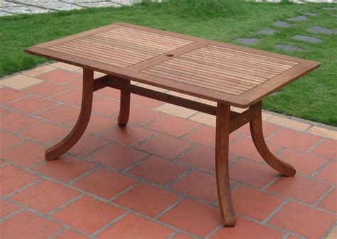 Vifah Atlantic Outdoor Rectangular Patio Table Patio Table Table For Patio