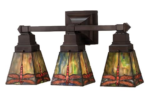 mission style bathroom lighting meyda 48036 prairie dragonfly vanity light