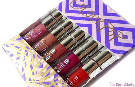 Colourpop Ultra Matte Liquid Lipstick Foxy Mini Kitssets the lipstickholic review colourpop ultra matte lip mini