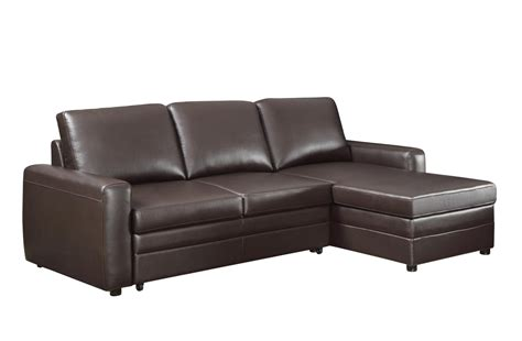 coaster gus 503870 brown leather sectional sofa steal a