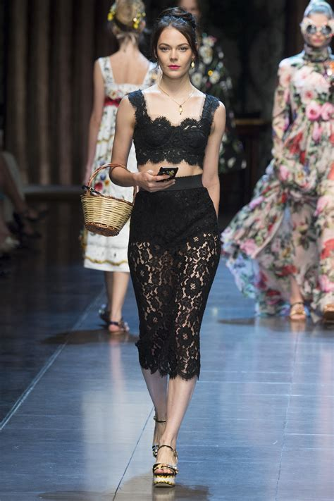Aya Stripe A Line Mini Dress Dolce Gabbana Mfw S S 2016 Showlist Model Showlists