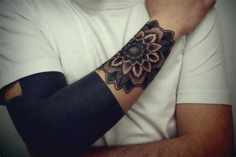 blacked out arm tattoo black arm beautiful best ideas designs