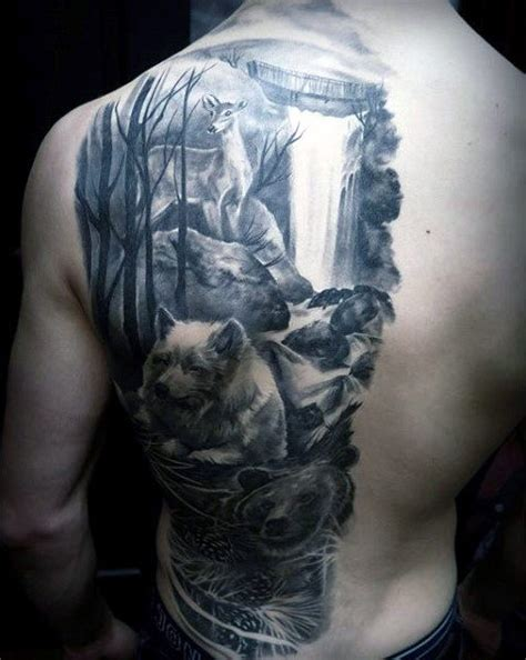 half back tattoo waterfall next picture pictures to pin on