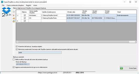 dropbox backup paolo guccini programmi software