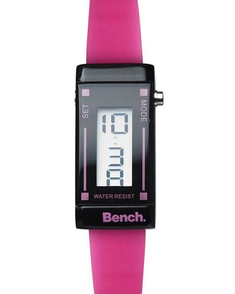 bench digital watch dynergy bench ladies thin strap digital watch