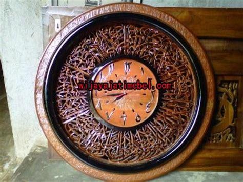 Jam Dinding Kaligrafi Ayat Kursi jam dinding kaligrafi ayat kursi kaligrafi kayu jati kaligrafi mewah harga jual ready