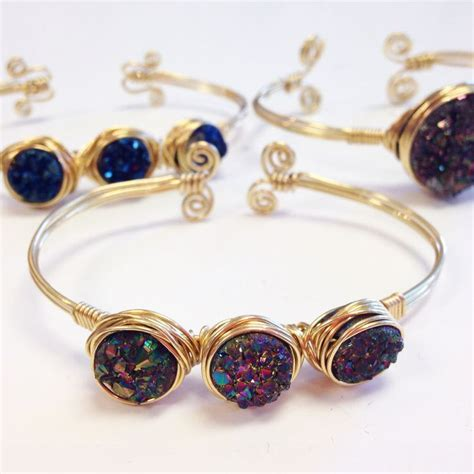 how to make druzy jewelry 25 best ideas about bracelet on