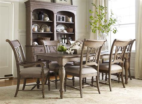seven piece dining room set 7 piece dining set with canterbury table and quatrefoil