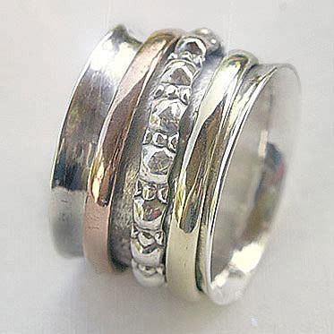 meditation rings sterling silver brass copper worry