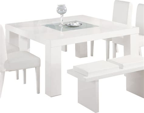 Contemporary White Dining Room Set With White Gloss Modern Modern White Dining Table