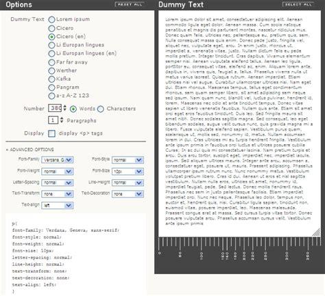 decoration text generator create dummy text online for webdesign demos