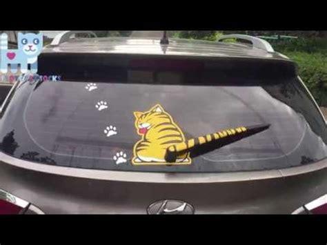 Stiker Sticker Wiper Belakang Kucing cat decal car rear wiper
