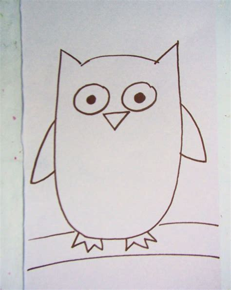 how to draw doodle owl easy owl drawings