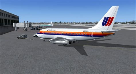 united flight united airlines boeing 737 200 for fsx
