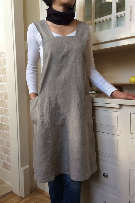 pattern pinafore dress linen pinafore apron dress for women by yuibasics on etsy
