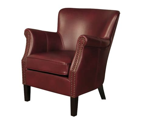 Armchairs Uk Stortford Burgundy Faux Leather Armchair