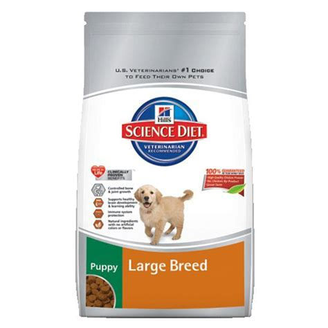 large breed puppy food science diet large breed puppy 30 lb food 985142