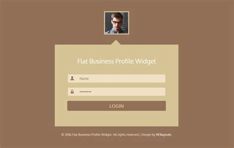 html5 profile template 40 powerful free css3 html5 login form templates dovethemes