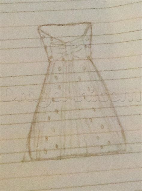how to a small how to draw a small prom dress step by step fashion