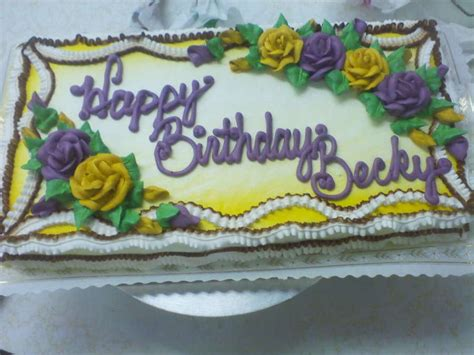 Happy Birthday Becky   CakeCentral.com