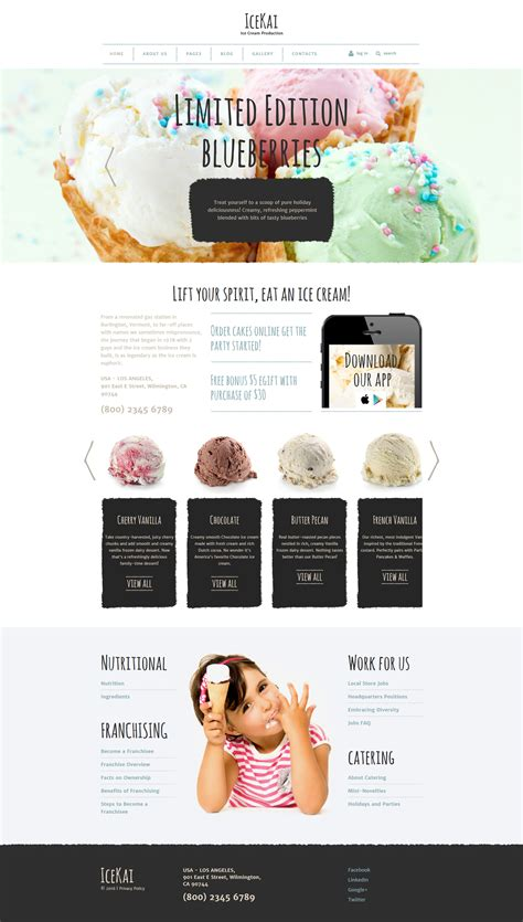joomla theme ice ice cream joomla theme