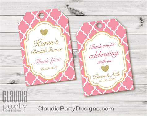 Bridal Shower Thank You Labels bridal shower thank you tags personalized bridal shower