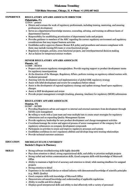 cover letter regulatory affairs regulatory affairs associate resume regulatory affairs
