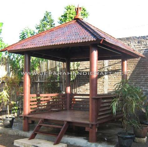 best seller gazebo minimalis modern kayu kelapa harga murah