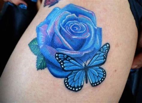 20 Attention Grabbing Rose Tattoo Designs Sheideas Blue Flower Tattoos Designs