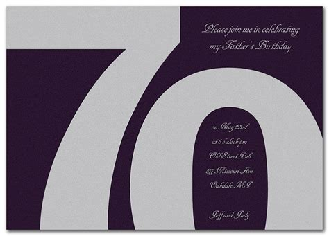 70th birthday invitation templates 15 70th birthday invitations design and theme ideas