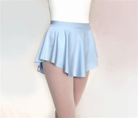 ballet skirt light blue lycra spandex sab skirt baby blue