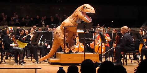conductor performed  jurassic park theme    rex